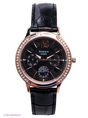Часы Sheen SHE-3030GL-5A CASIO. Цвет: черный, золотистый
