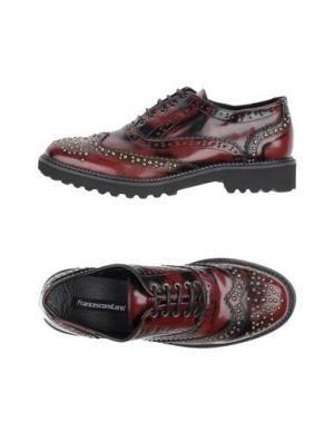 Обувь на шнурках FRANCESCO MILANO. Цвет: кирпично-красный