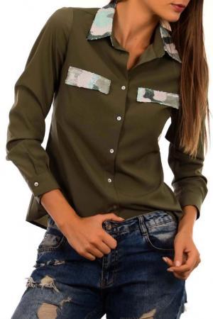 Рубашка Sateen. Цвет: зеленый