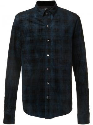 Plaid button down shirt Amiri. Цвет: синий