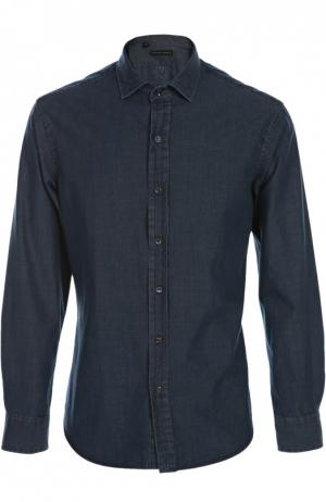 Джинсовая рубашка Polo Ralph Lauren. Цвет: темно-синий