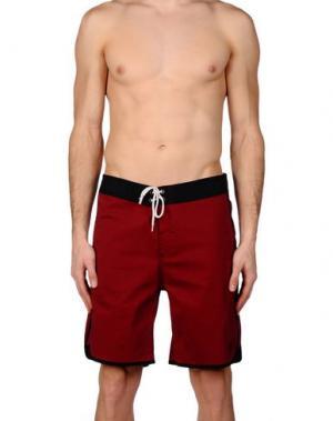 Пляжные брюки и шорты LIGHTNING BOLT. Цвет: красно-коричневый