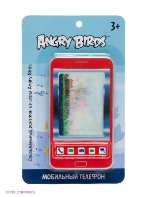 Детский мобильный телефон - Классика ANGRY BIRDS. Цвет: красный, синий