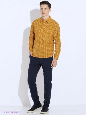Рубашка Mavango. Цвет: желтый