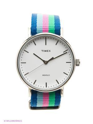 Часы TIMEX. Цвет: синий, зеленый, голубой, розовый