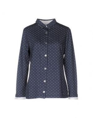 Pубашка JEANS & POLO. Цвет: темно-синий