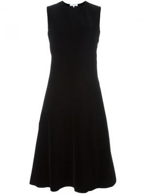 Платье c V-образным вырезом Carven. Цвет: чёрный