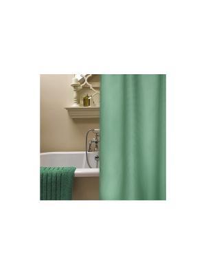 Штора для ванной комнаты 178х180см  зеленая, п/э NIKLEN. Цвет: зеленый