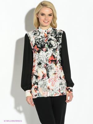 Блузка GUESS. Цвет: черный, розовый, желтый, белый
