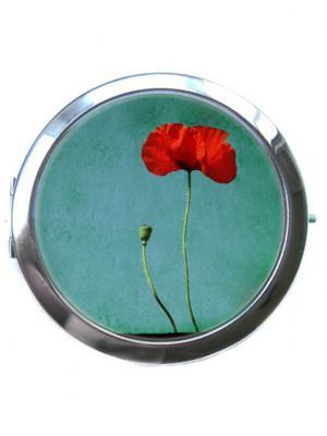 Зеркальце Tina Bolotina. Цвет: зеленый, красный