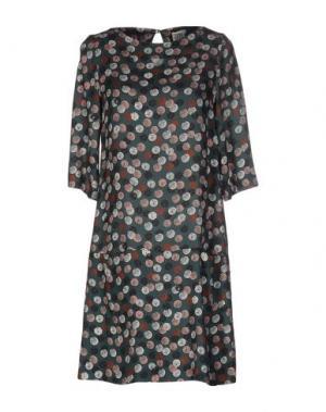 Короткое платье SIYU. Цвет: зеленый