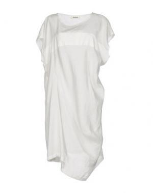 Короткое платье ZUCCA. Цвет: белый