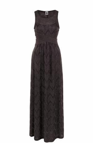 Вязаное платье-макси без рукавов M Missoni. Цвет: фиолетовый