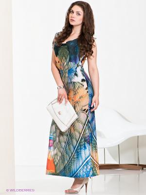 Платье МадаМ Т. Цвет: оранжевый, синий, сиреневый
