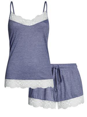 Пижама Oodji. Цвет: синий