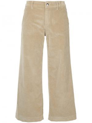Укороченные бархатные брюки The Seafarer. Цвет: телесный