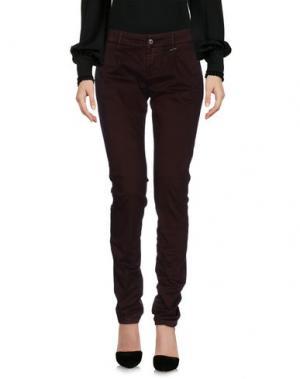 Повседневные брюки GREY DANIELE ALESSANDRINI. Цвет: красно-коричневый