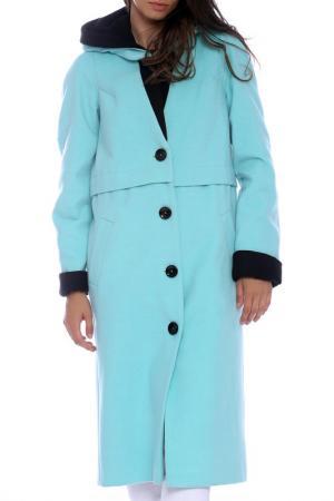 Пальто Emma Monti. Цвет: aqua