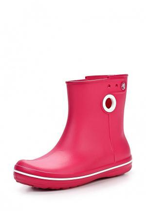 Резиновые полусапоги Crocs. Цвет: розовый