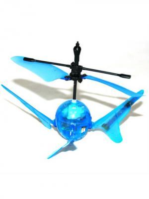 Вертолет Супер Светлчок на инфракрасном управлении со световыми ффектами голубой ВластелиНебес. Цвет: синий