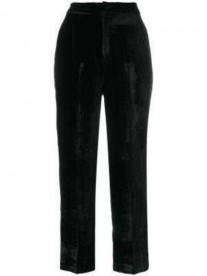 Широкие бархатные брюки Pt01. Цвет: чёрный