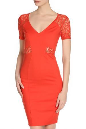 Платье PAPER DOLLS. Цвет: оранжевый