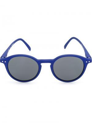 Солнцезащитные очки в круглой оправе See Concept. Цвет: синий