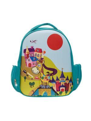 Рюкзак 3D Bags. Цвет: бирюзовый
