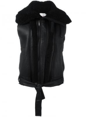 Куртка без рукавов A.F.Vandevorst. Цвет: чёрный