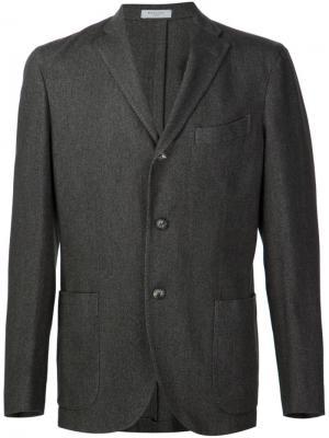 Меланжевый пиджак Boglioli. Цвет: серый