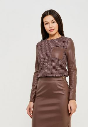 Блуза MARI VERA. Цвет: коричневый