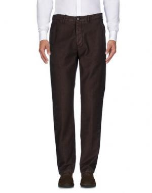 Повседневные брюки RE.BELL. Цвет: темно-коричневый