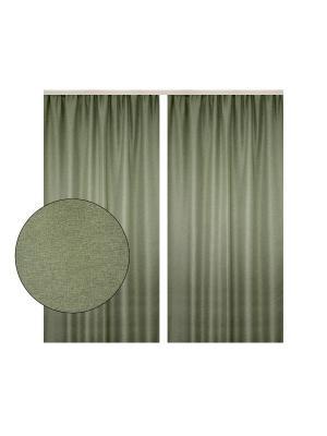 Портьера Трава бекаут светло-зеленый 180х270 см. T&I. Цвет: светло-зеленый