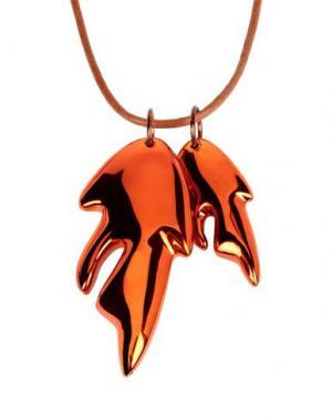 Ожерелье CEDRIC CHARLIER. Цвет: коричневый