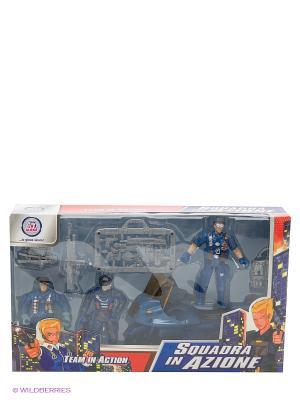 Набор Полиция с фигурками Globo. Цвет: синий, серый