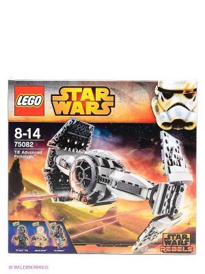 Игрушка Звездные войны Улучшенный Прототип TIE Истребителя, номер модели 75082 LEGO. Цвет: серый, антрацитовый