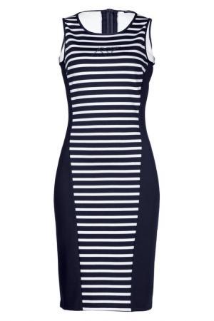 Платье Apart. Цвет: синий, белый