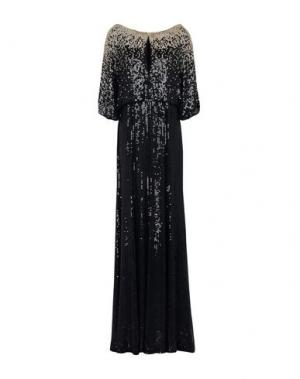 Длинное платье JENNY PACKHAM. Цвет: черный