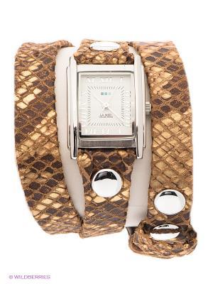 Часы La Mer Collections. Цвет: золотистый, коричневый, серебристый