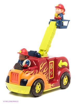 Пожарная машина с подъемником Battat. Цвет: красный, синий, зеленый