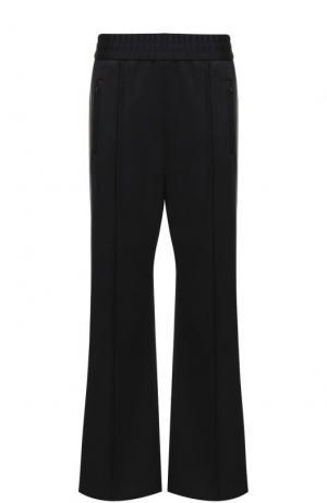 Укороченные расклешенные брюки с лампасами Marc Jacobs. Цвет: черный