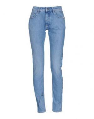 Джинсовые брюки PALM ANGELS. Цвет: синий