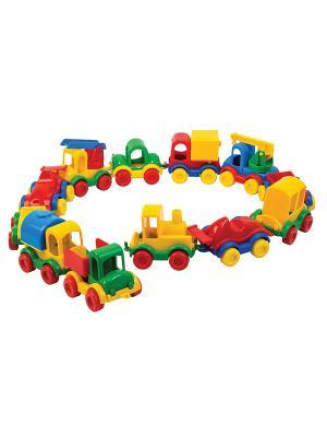 Авто Kid cars в коробке 12 шт ТИГРЕС. Цвет: желтый, синий, зеленый, красный