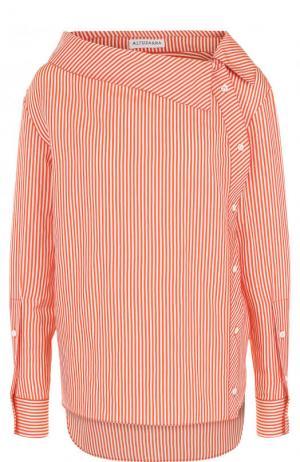 Блуза свободного кроя в полоску Altuzarra. Цвет: оранжевый