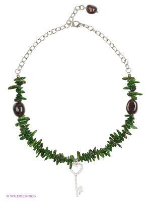 Ожерелье Polina Selezneva. Цвет: зеленый