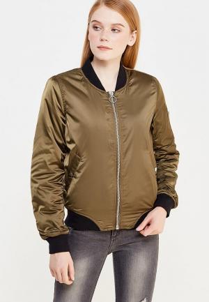 Куртка утепленная Jennyfer. Цвет: хаки