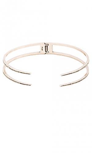 Двойное ожерелье с насечкой Luv AJ. Цвет: металлический серебряный