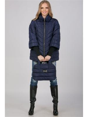 Куртка А Б Коллекция. Цвет: темно-синий