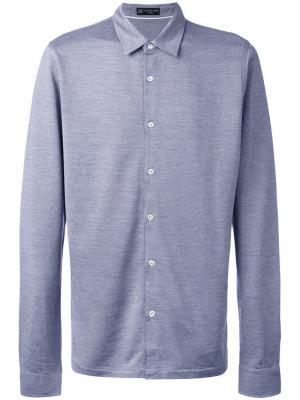 Рубашка слим Corneliani. Цвет: синий