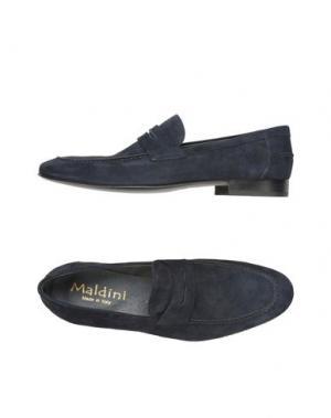 Мокасины MALDINI. Цвет: темно-синий